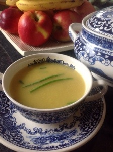 Celery, Apple and a little bit of Cashel Blue soup.