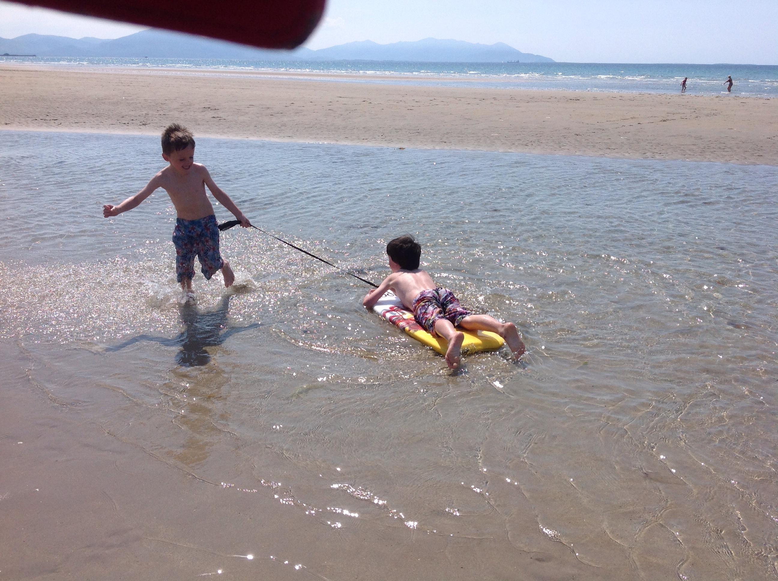 Beach days with the boys