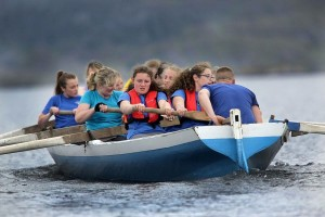 Rowing during our Seine Boat Race. Photo coutesy of Valerie O'Sullivan Photo.