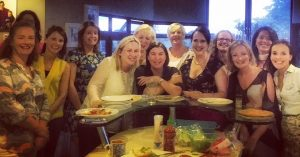 One of my wonderful groups of ladies enjoying a 'Private Cookery Class'